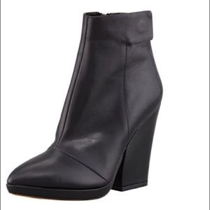 Vince Luisa Leather Ankle Boots